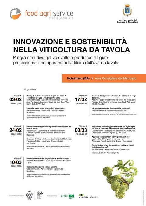 """Table Grape: Bluleaf and Graper for """"Innovation and Sustainability in table viticulture """""""