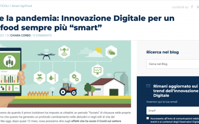 Covid19 & Agriculture: digital technology saves the world in the new Osservatori.net report